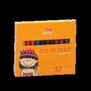 Giz de cera longo 12 cores Piratininga