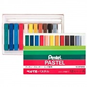Giz pastel seco 12 cores Pentel
