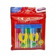Hidrográfica 12 cores VAI E VEM Faber-Castell