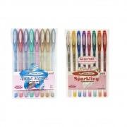 Kit caneta gel 0.8/1.0 16 cores Signo Uniball