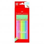 Lápis de cor 10 cores pastel Faber-Castell