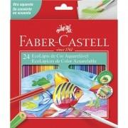 Lápis de cor 24 cores AQUARELÁVEL Faber-Castell