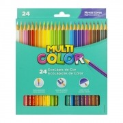 Lápis de cor 24 cores Multicolor