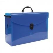 Maleta arquivo azul com 10 pastas suspensas Dello