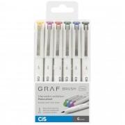 Marcador artístico brush fine 6 cores básicas GRAF Cis