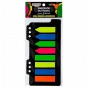 Marcador de página adesivo para fichário 12x44 25 fls 5 cores Brw