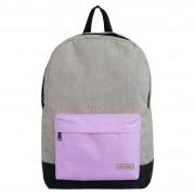 Mochila escolar cinza/lilás pastel YS29116 Convoy