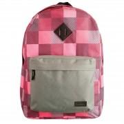 Mochila escolar xadrez rosa/cinza YS29134  Convoy