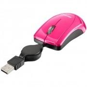 Mouse USB retrátil 800 dpi rosa MO161 Multilaser