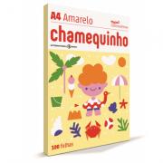 Papel A4 amarelo 75g 100 fls Chamex