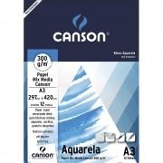 Papel cartão 12 fls A3 300g Canson