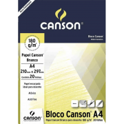 Papel cartão 20 fls A4 180g Canson