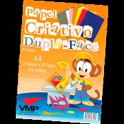 Papel criativo 24 fls 8 cores Vmp