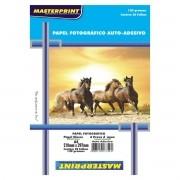 Papel fotográfico adesivo 20 fls 130g Masterprint