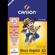 Papel vegetal 50 fls A3 60g Canson