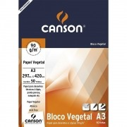 Papel vegetal 50 fls A3 90g Canson