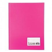 Pasta catálogo capa dura 100 envelopes com visor rosa Tn