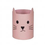 Porta caneta gato rosa Geguton