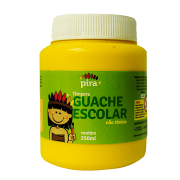 Tinta guache 250 ml amarelo Piratininga