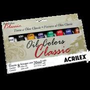 Tinta óleo 20ml 8 cores Acrilex