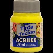 Tinta tecido 37ml amarelo limão Acrilex