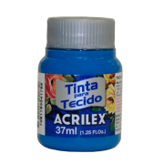 Tinta tecido 37ml azul cerúleo Acrilex