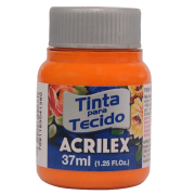 Tinta tecido 37ml laranja Acrilex