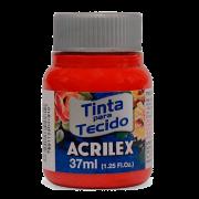 Tinta tecido 37ml vermelho tomate Acrilex
