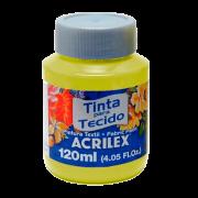 Tinta tecido 120ml Amarelo limão Acrilex