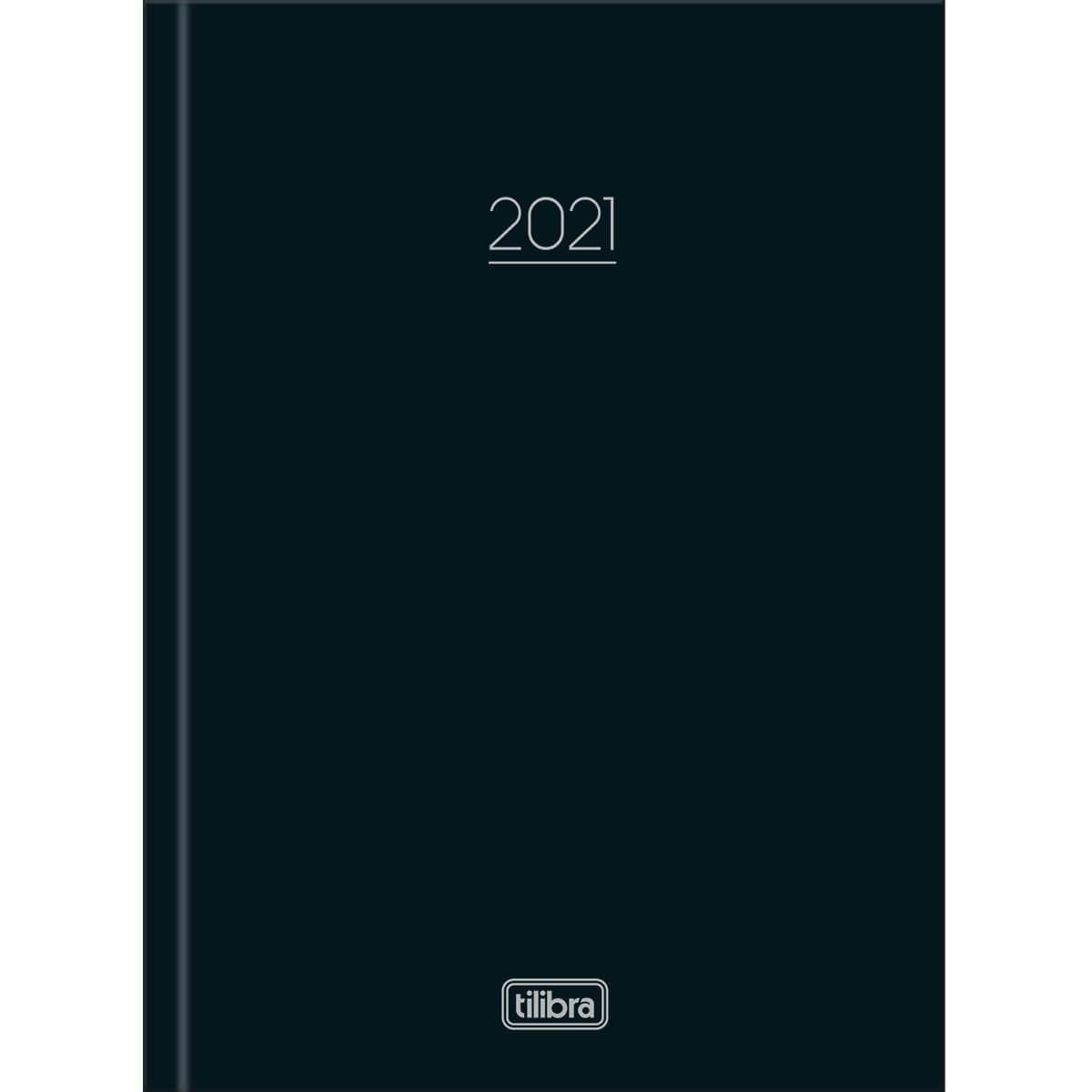 Agenda 2021 costurado 160 fls preto Pepper M4 Tilibra
