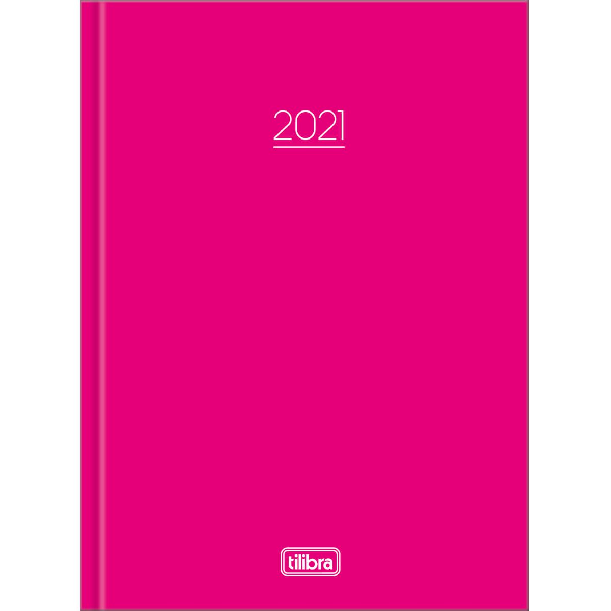Agenda 2021 costurado 160 fls rosa Pepper M4 Tilibra