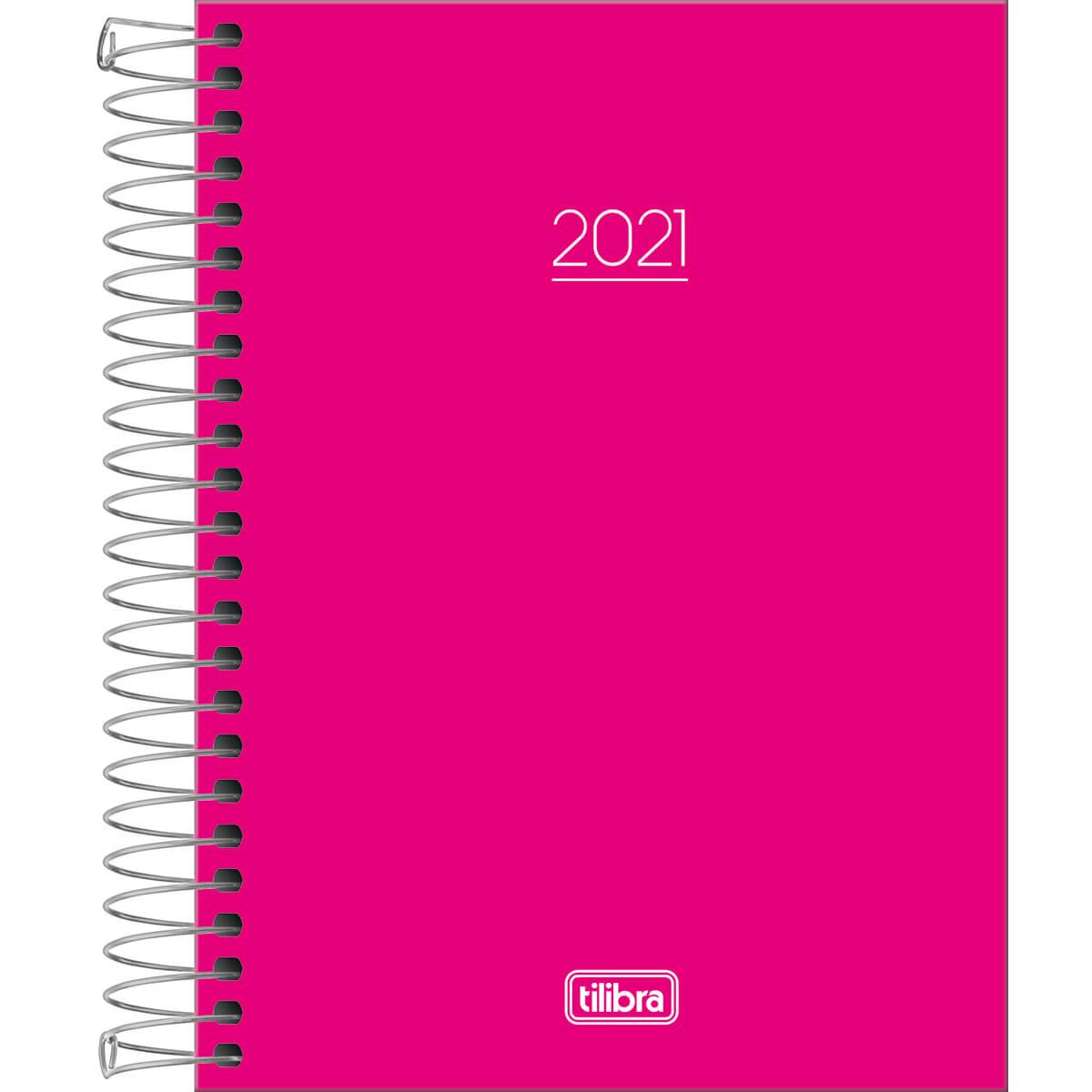 Agenda 2021 espiral 160 fls rosa Pepper M4 Tilibra