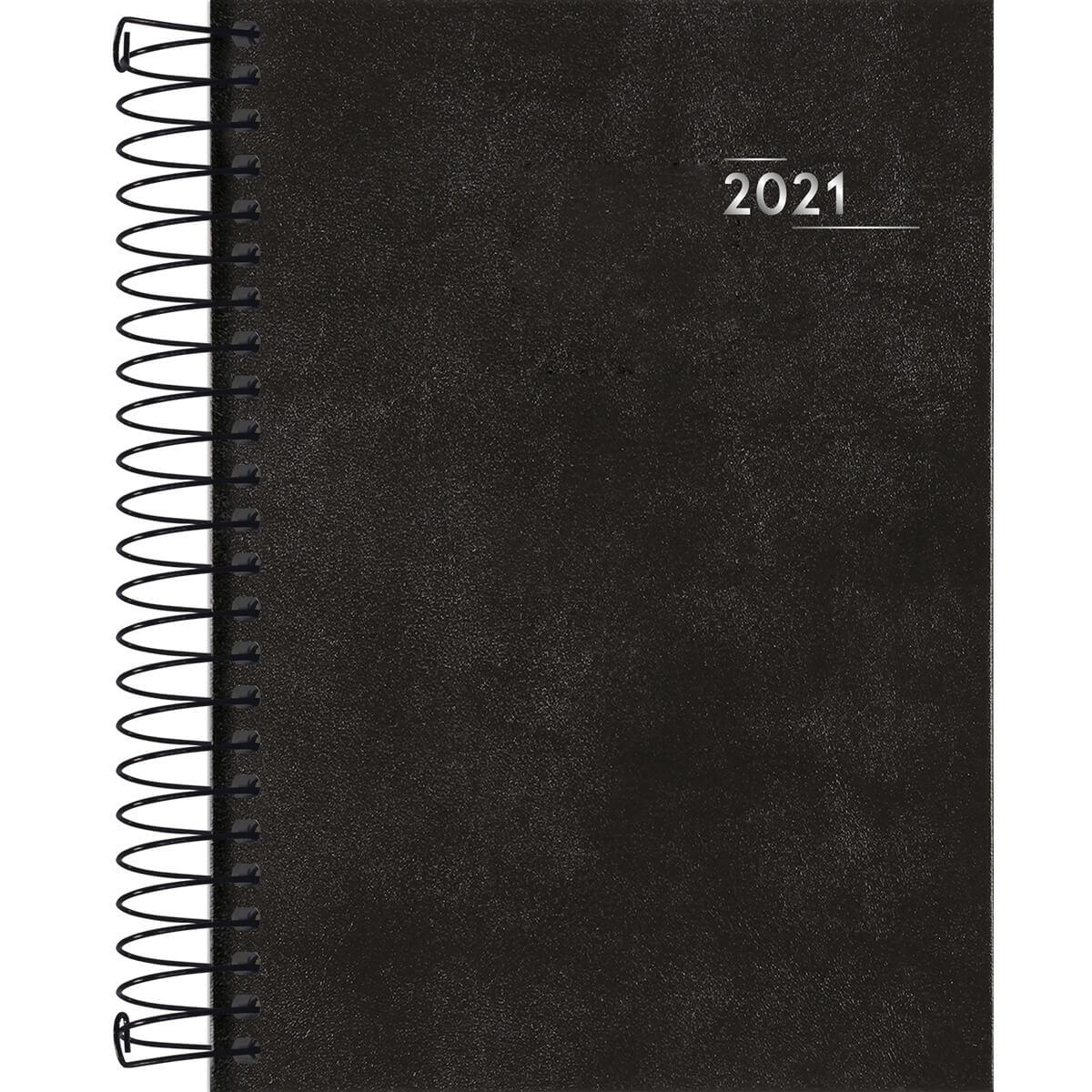 Agenda 2021 espiral 176 fls preto Napoli M5 Tilibra