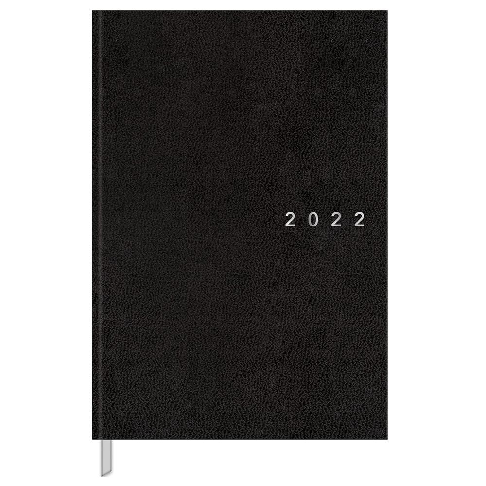 Agenda 2022 costurado 192 fls preto Napoli M7 Tilibra