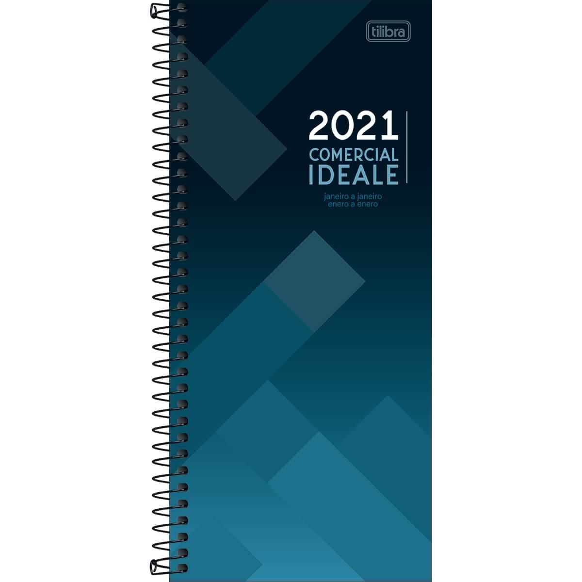 Agenda comercial 2021 espiral 208 fls Ideale M8 Tilibra