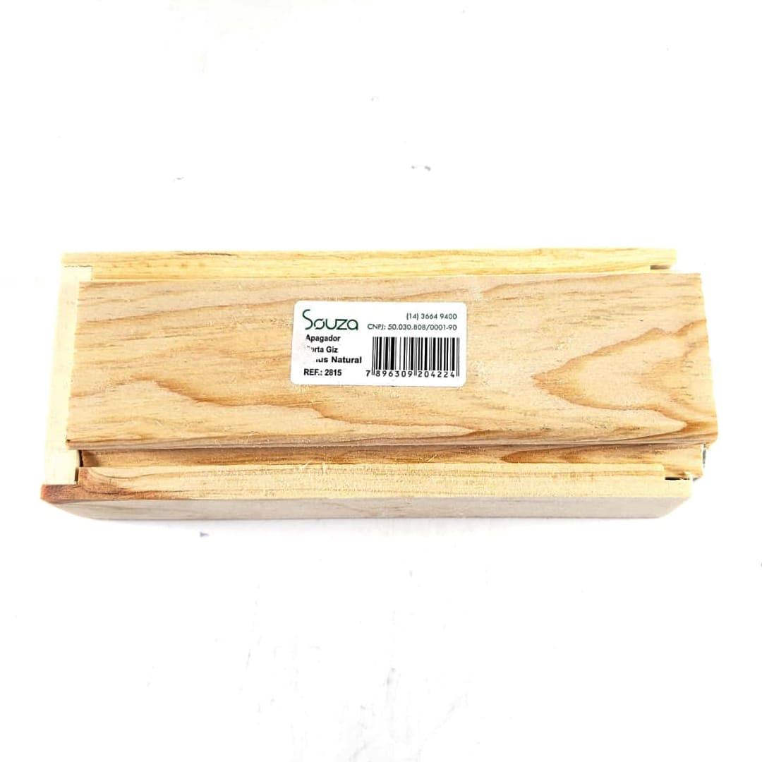 Apagador de madeira porta giz Souza