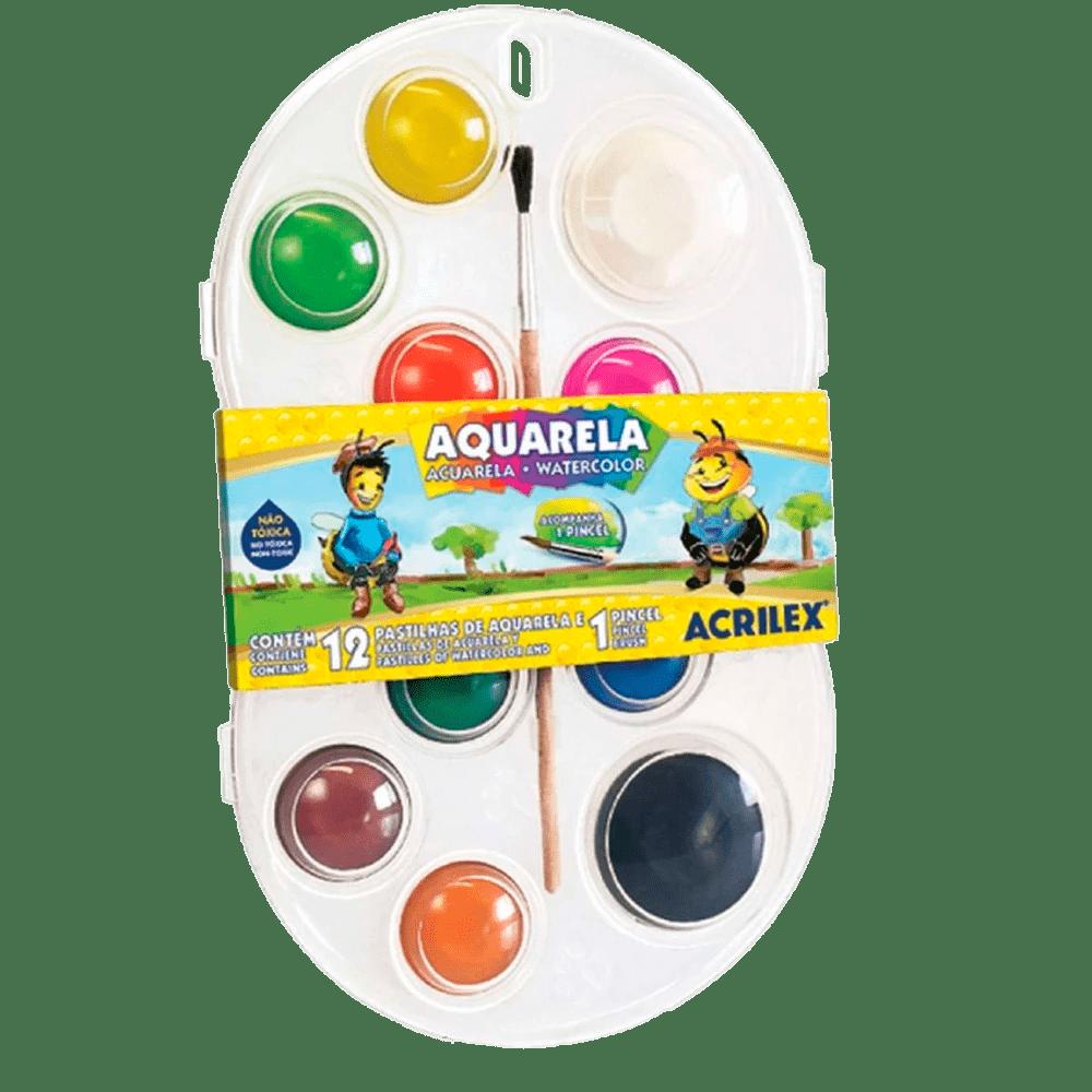 Aquarela 12 cores Acrilex