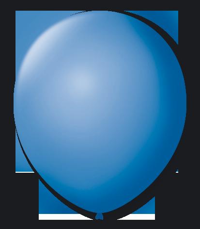 Balão n°7 50 un azul turquesa São Roque