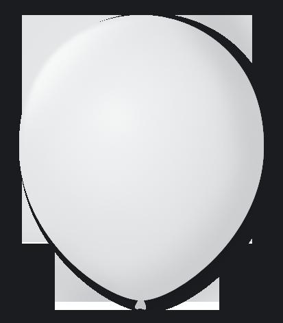 Balão n°7 50 un branco polar São Roque