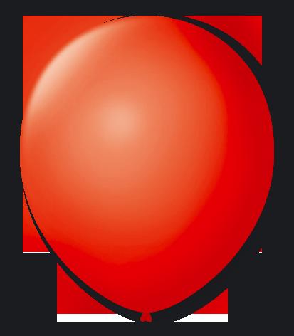 Balão n°7 50 un vermelho quente São Roque