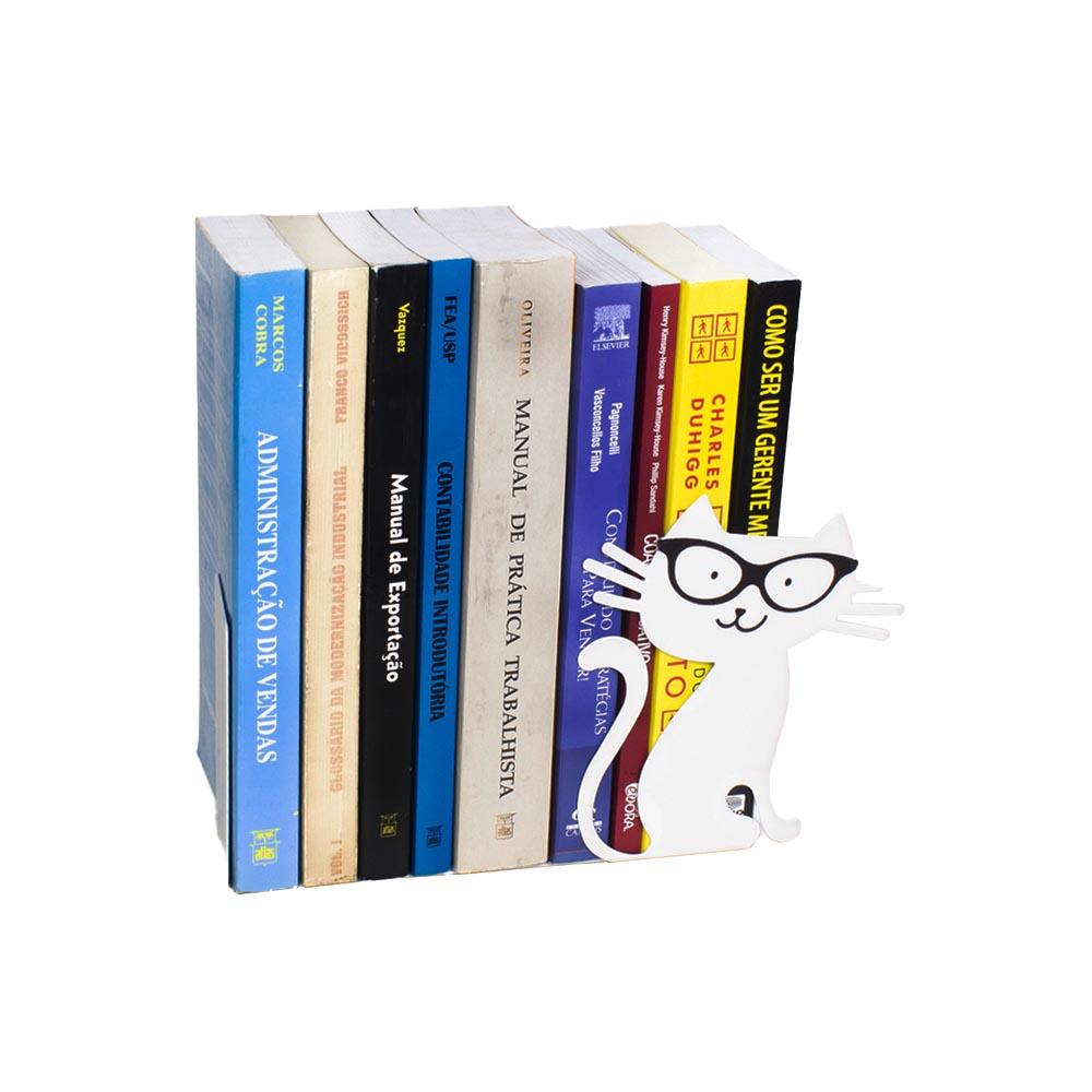 Bibliocanto gato branco Geguton