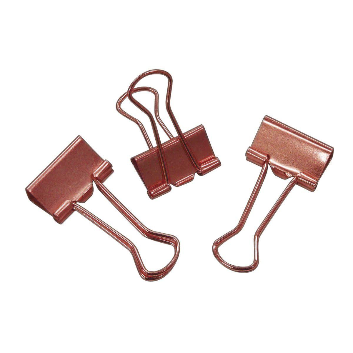 Binder clips 19 mm 12 un rose Tilibra