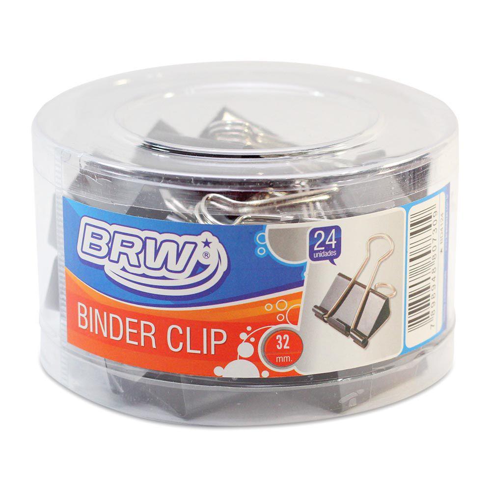 Binder clips 32 mm 24 un Brw