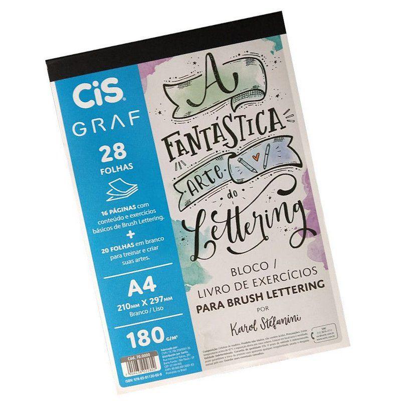 Bloco de exercícios para brush lettering 20 fls CIS