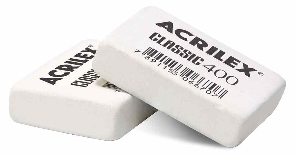 Borracha branca classic 400 Acrilex