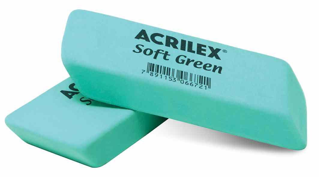 Borracha verde soft Acrilex