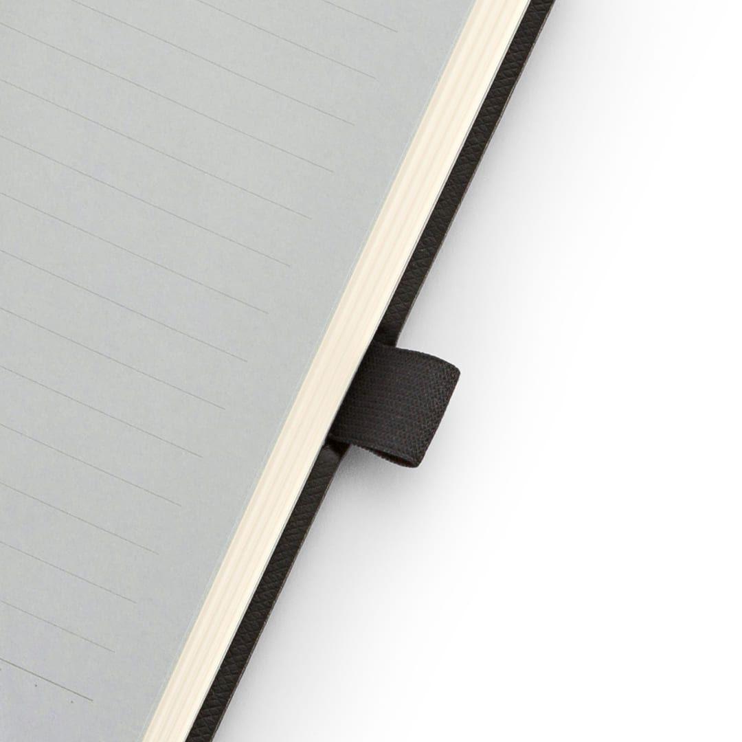 Caderneta maxi pautado 84 fls Noir Pena Ótima