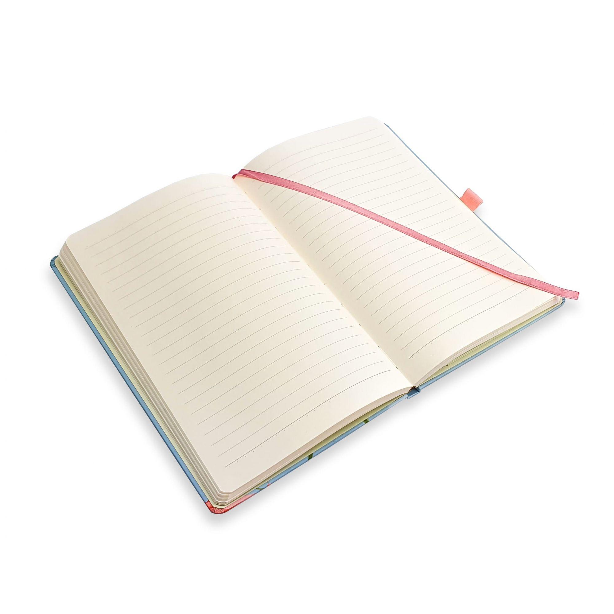Caderneta mini pautado 80 fls La Bela Ótima