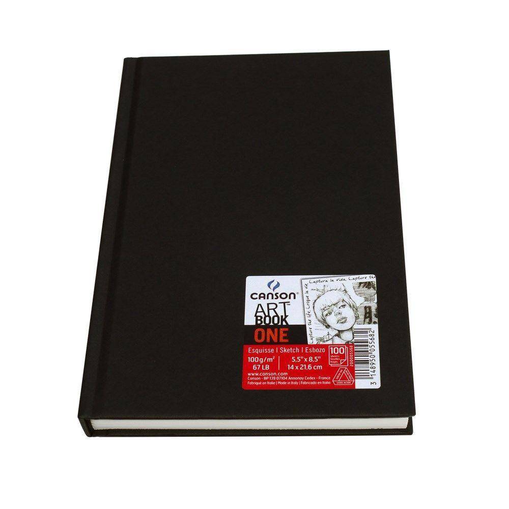 Caderneta sem pauta 98fls A5 Canson
