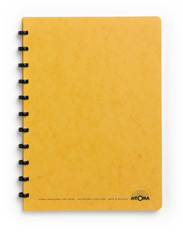 Caderno A4 72 fls amarelo KARTOON Atoma